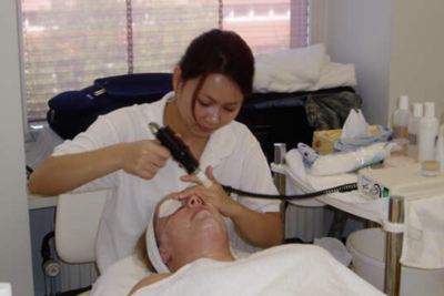 Facial treatment at IMKO
